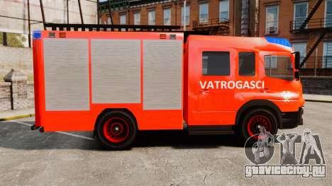 Mercedes-Benz Atego Koprivnica Fire Dept. [ELS] для GTA 4 вид слева