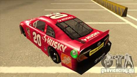 Toyota Camry NASCAR No. 20 Husky для GTA San Andreas вид сзади