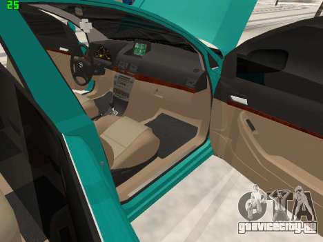 Toyota Avensis 2.0 16v VVT-i D4 Executive для GTA San Andreas вид сбоку