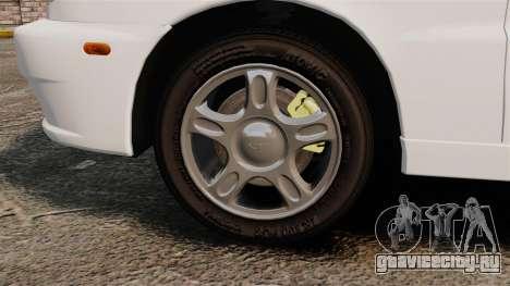 Daewoo Lanos 1997 Cabriolet Concept для GTA 4 вид сзади