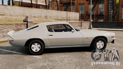 Chevrolet Camaro Z28 1970 для GTA 4 вид слева