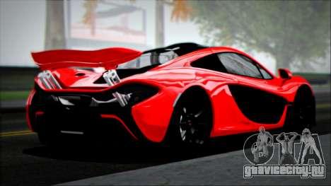 McLaren P1 2014 для GTA San Andreas вид слева