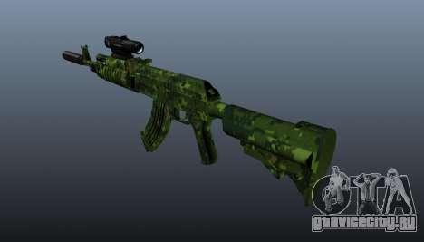 Автомат АК-74 в камуфляже для GTA 4 второй скриншот