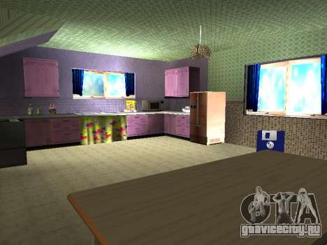 Новый интерьер 2-ух этажного дома CJ для GTA San Andreas восьмой скриншот