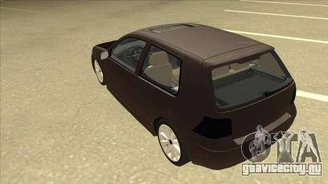 VW Golf 4 Tuned для GTA San Andreas вид сзади