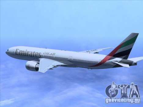 Boeing 777-21HLR Emirates для GTA San Andreas вид сбоку