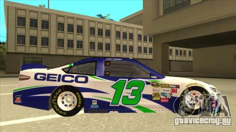 Ford Fusion NASCAR No. 13 GEICO для GTA San Andreas вид сзади слева