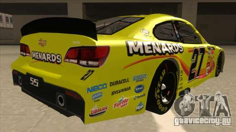 Chevrolet SS NASCAR No. 27 Menards для GTA San Andreas вид справа
