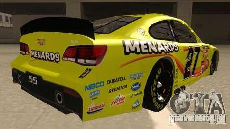 Chevrolet SS NASCAR No. 27 Menards для GTA San Andreas вид справа