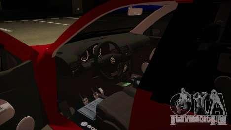 VW Golf GTI 2008 для GTA San Andreas вид изнутри