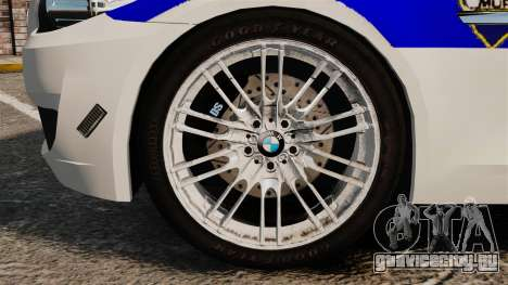 BMW M5 Croatian Police [ELS] для GTA 4 вид сзади