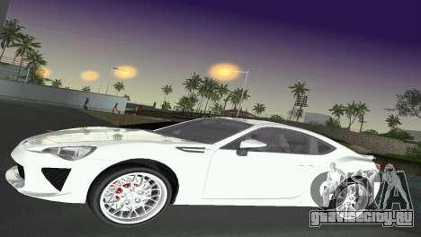 Subaru BRZ Type 2 для GTA Vice City вид сбоку