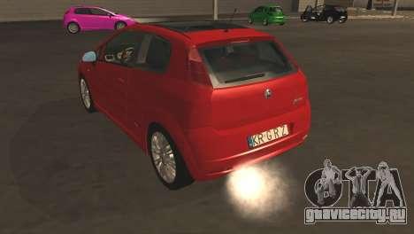 Fiat Grande Punto для GTA San Andreas вид сверху