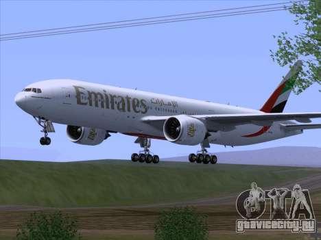 Boeing 777-21HLR Emirates для GTA San Andreas вид справа