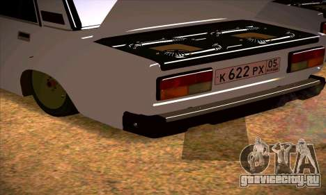ВАЗ 2107 (05 RUS) для GTA San Andreas вид справа