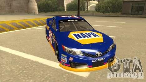 Toyota Camry NASCAR No. 56 NAPA для GTA San Andreas вид слева