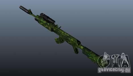 Автомат АК-74 в камуфляже для GTA 4 третий скриншот