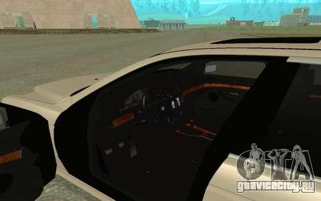 BMW 540i для GTA San Andreas вид сзади