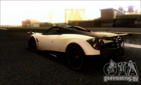Pagani Huayra Cinque для GTA San Andreas вид сзади слева