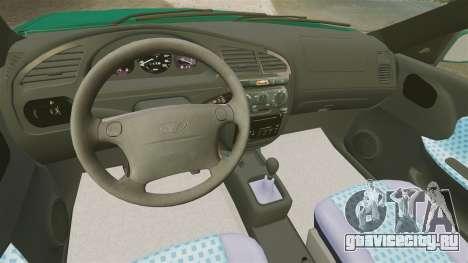 Daewoo Lanos 1997 Cabriolet Concept v2 для GTA 4 вид изнутри