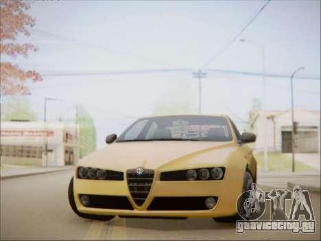 Alfa Romeo 159 Sedan для GTA San Andreas вид сзади слева
