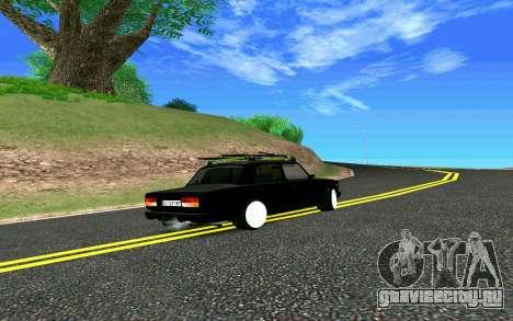 ВАЗ 2107 Riva для GTA San Andreas вид сзади
