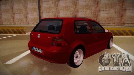 Volkswagen Golf Mk4 Euro для GTA San Andreas вид справа