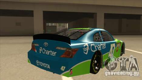 Toyota Camry NASCAR No. 47 Charter для GTA San Andreas вид справа