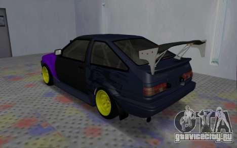 Toyota AE86 Street Drift для GTA San Andreas вид справа