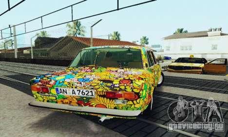 ВАЗ 21011 Хиппи для GTA San Andreas вид сбоку