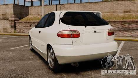 Daewoo Lanos GTI 1999 Concept для GTA 4 вид сзади слева