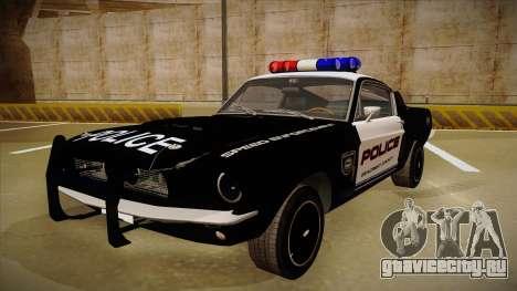 Shelby Mustang GT500 Eleanor Police для GTA San Andreas