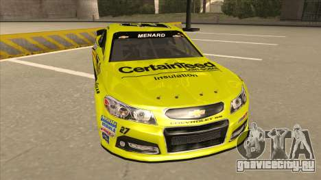 Chevrolet SS NASCAR No. 27 Menards для GTA San Andreas вид слева