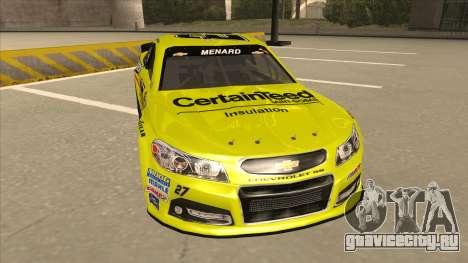 Chevrolet SS NASCAR No. 27 Menards для GTA San Andreas вид слева