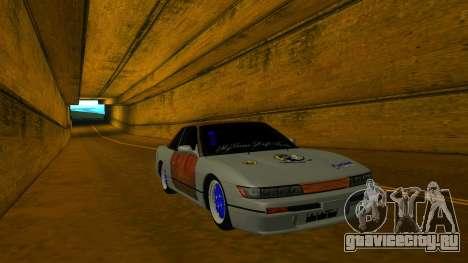 Nissan Silvia S13 MGDT для GTA San Andreas вид сзади