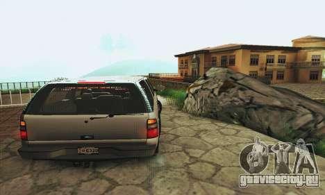 Chevrolet Suburban SAPD FBI для GTA San Andreas вид справа