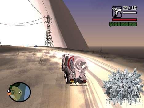 Новогодний спидометр для GTA San Andreas четвёртый скриншот