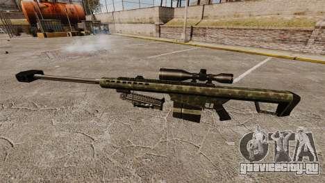 Снайперская винтовка Barrett M82 v7 для GTA 4 третий скриншот