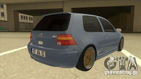 Volkswagen Golf MK4 Gti Eurolook для GTA San Andreas вид справа