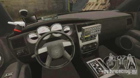 Dodge Charger 2008 LCPD Slicktop [ELS] для GTA 4 вид сзади