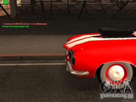 ГАЗ El Camino SS для GTA San Andreas вид сзади слева