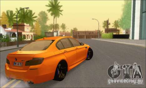 BMW M5 Vossen для GTA San Andreas вид сзади