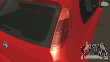 Fiat Grande Punto для GTA San Andreas вид изнутри