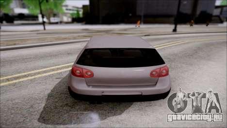 Volkswagen Golf GTI для GTA San Andreas вид справа