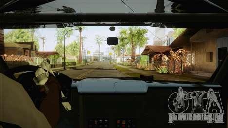 Bowler EXR S 2012 HQLM для GTA San Andreas вид изнутри