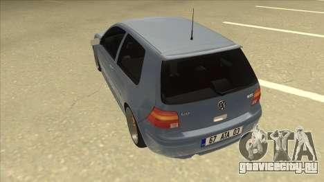 Volkswagen Golf MK4 Gti Eurolook для GTA San Andreas вид сзади