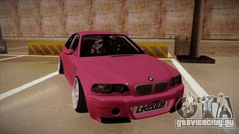 BMW M3 E46 Stance для GTA San Andreas вид слева