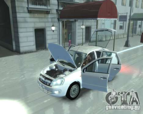 Lada Granta Hatch - VAZ 2191 для GTA 4 вид сзади слева