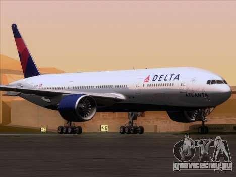 Boeing 777-200ER Delta Air Lines для GTA San Andreas вид слева