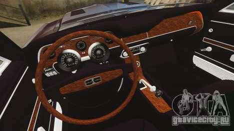 Shelby GT500 для GTA 4 вид изнутри